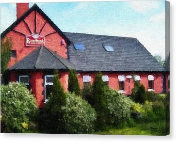 Riverbank Restaurant Riverstown Ireland Canvas Print