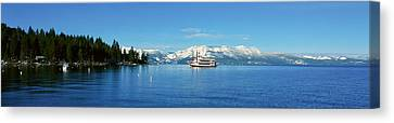 Riverboat On Lake Tahoe, California Canvas Print by Panoramic Images