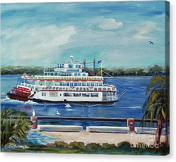 Riverboat Savannah Canvas Print by Doris Blessington