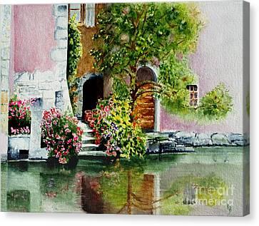 Riverfront Property Canvas Print by Karen Fleschler