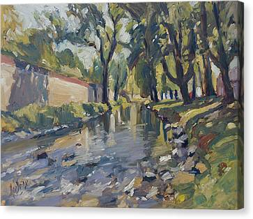 Riverjeker In The Maastricht City Park Canvas Print by Nop Briex