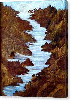 Canvas Print featuring the painting Rivers End by Sherri  Of Palm Springs