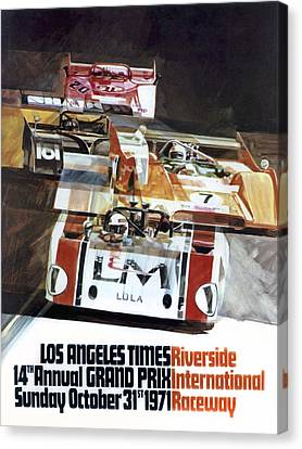 Riverside Can-am Canvas Print by Peter Chilelli