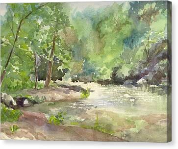 Riverside Park Canvas Print by Yolanda Koh