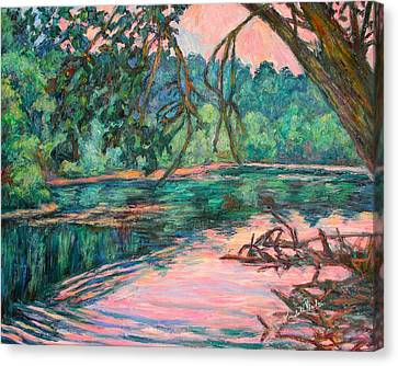 Riverview At Dusk Canvas Print by Kendall Kessler