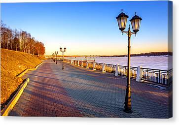 Riverwalk Along The Volga River Canvas Print