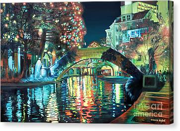 River Canvas Print - Riverwalk by Baron Dixon
