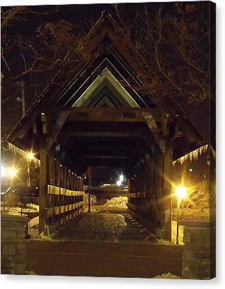 Canvas Print - Riverwalk Bridge I by Anna Villarreal Garbis