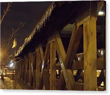 Canvas Print - Riverwalk Bridge II by Anna Villarreal Garbis