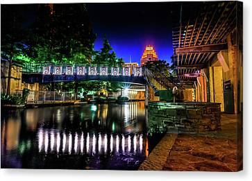 Riverwalk Bridge Canvas Print by Mark Dunton