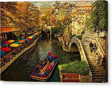 River Canvas Print - Riverwalk by Iris Greenwell