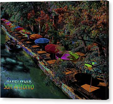 Canvas Print featuring the photograph Riverwalk,san Antonio,texas by Robert McCubbin
