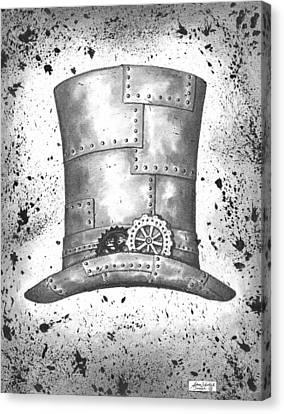 Black Top Canvas Print - Riveting Top Hat by Adam Zebediah Joseph