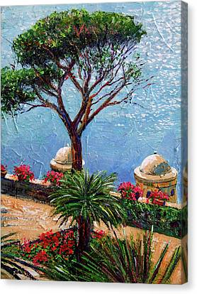 Riviera Plein Air Canvas Print by David Lloyd Glover