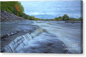 Riviere Des Prairies Panorama Canvas Print by Mircea Costina Photography