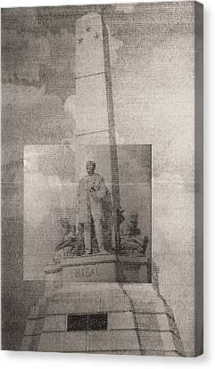 Rizal-full And Detail 1966-67 Canvas Print by Glenn Bautista