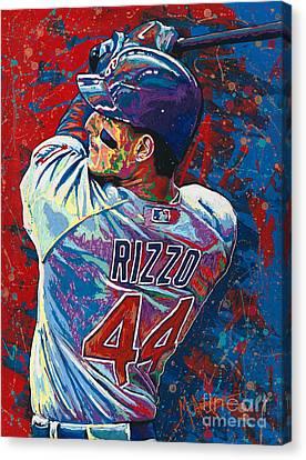 Rizzo Swings Canvas Print by Maria Arango