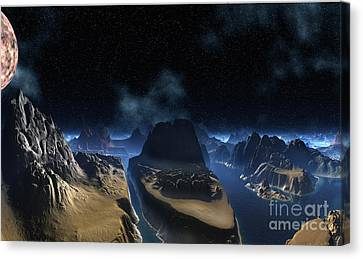Rms Titanic Carved In Stone Canvas Print by Heinz G Mielke