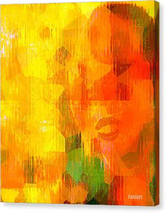 Canvas Print featuring the painting Road Blocker by Fania Simon