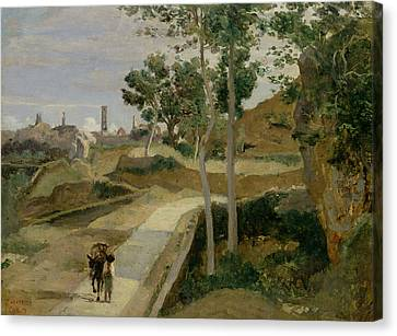 Road From Volterra Canvas Print by Jean Baptiste Camille Corot