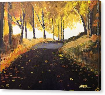 Road In Autumn Canvas Print