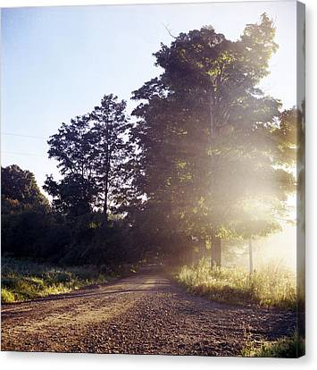 Canvas Print featuring the photograph Road by Josean Rivera