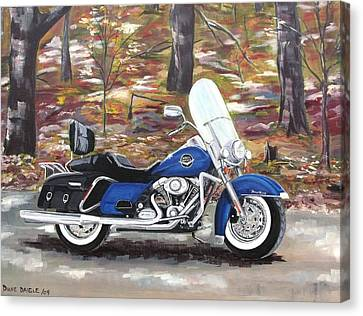 Road King Canvas Print by Diane Daigle