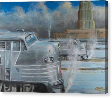 Road Power At Buffalo Canvas Print by Christopher Jenkins