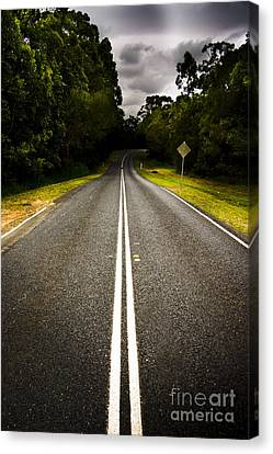 Sombre Canvas Print - Road by Jorgo Photography - Wall Art Gallery