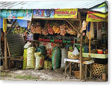 Road Side Store Philippines Canvas Print by James BO  Insogna