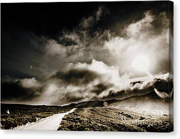 Road Storm Canvas Print by Jorgo Photography - Wall Art Gallery