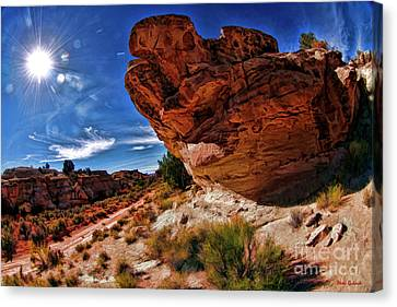Road Though Pahreah Ghost Town Canvas Print by Blake Richards