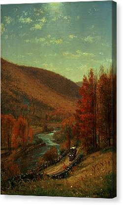 Road Through Belvedere Canvas Print by Thomas Worthington