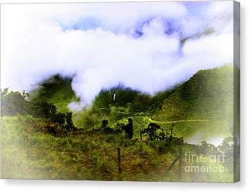 Canvas Print featuring the photograph Road Through The Andes by Al Bourassa