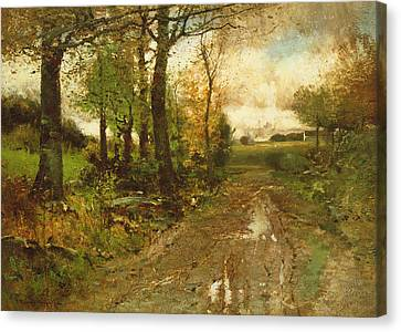 Road Through The Woods Canvas Print by John Francis Murphy
