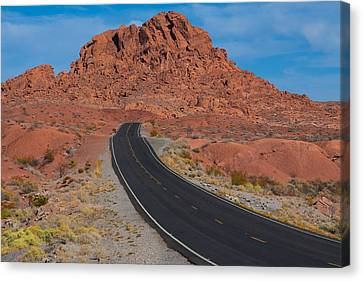 Road Through Valley Of Fire, Nv Canvas Print