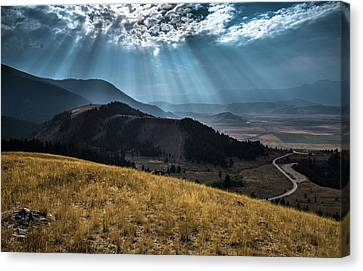 Road To Curtis Canyon Canvas Print