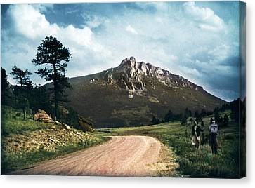 Nederland Canvas Print - Road To Estes 1950 by Marilyn Hunt