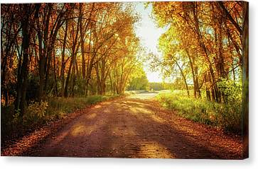 Canvas Print featuring the photograph Road To Eternity by John De Bord
