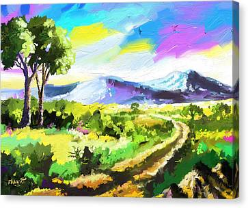 Road To The Hills Canvas Print by Anthony Mwangi
