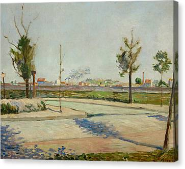 Gennevilliers Canvas Print - Road To Gennevilliers by Paul Signac