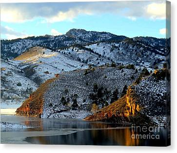 Road To Horsetooth 2 Canvas Print by Diane M Dittus