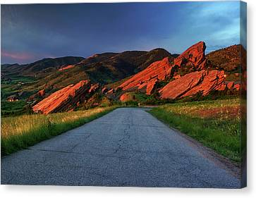 Canvas Print featuring the photograph Road To Light by John De Bord