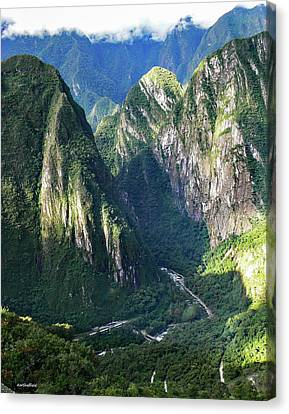Road To Machu Picchu  Canvas Print by Allen Sheffield