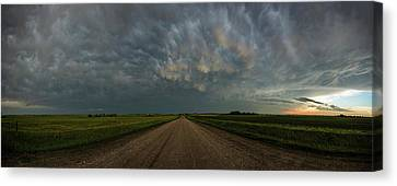 Road To Mammatus Canvas Print by Aaron J Groen