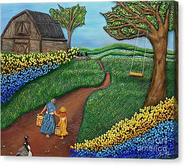 Flock Of Geese Canvas Print - Road To Maple by Anne Klar