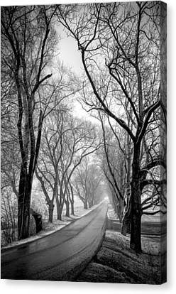 Road To Meems Bottom Bridge Canvas Print by Williams-Cairns Photography LLC