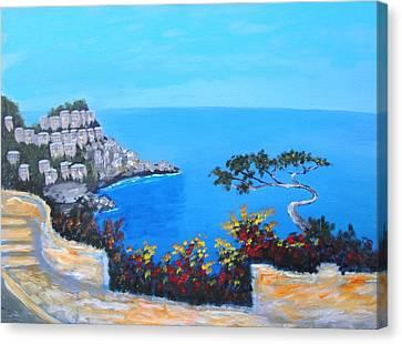 Road To Monaco Canvas Print by Larry Cirigliano