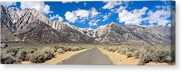Road To Mount Whitney, Lone Pine Canvas Print by Panoramic Images
