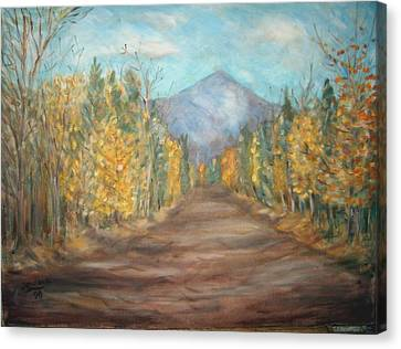 Road To Mountain Canvas Print by Joseph Sandora Jr